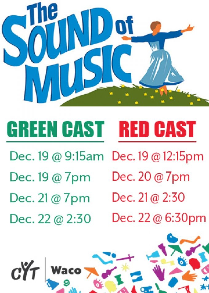 CYT Waco – The Sound of Music – Green & Red Cast DVDs